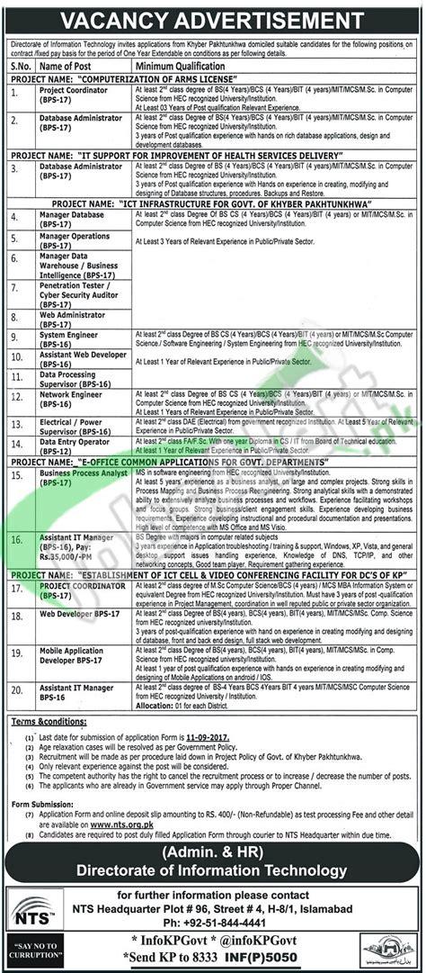 jobs  higher education department kpk   bps
