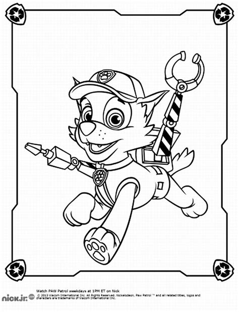 Rocky Paw Patrol Coloring Pages Coloring Pages for
