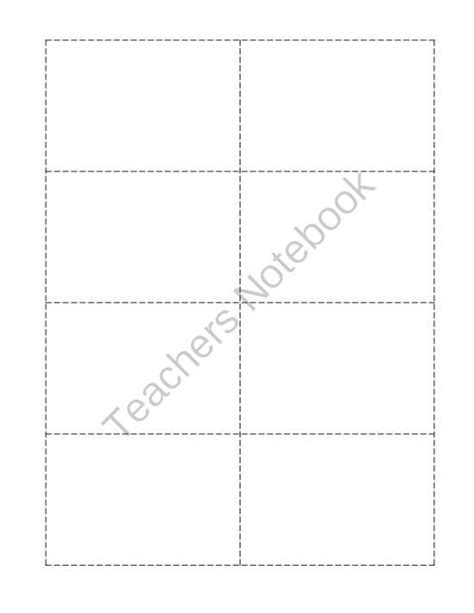 card sorting template word sorting flashcard template from things