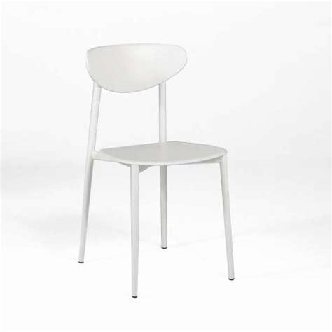 chaise de cuisine blanche chaise de cuisine en polypropylène blanche graffiti 4