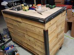 coffee cart   wood pallets   weld
