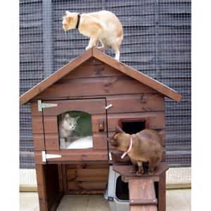 outside cat house emily luxury outdoor cat house