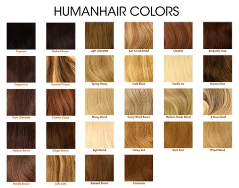 revlon wigs color chart images