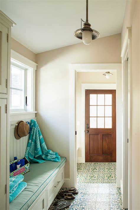 foyer  sloped ceiling cottage laundry room liz