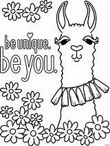 Coloring Llama Printable Visit Sheets sketch template
