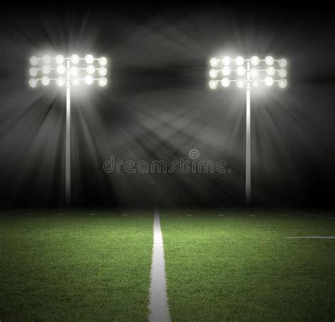 friday night lights audiobook stadium game night lights on black royalty free stock