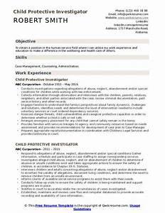 Build Resume Free Download Child Protective Investigator Resume Samples Qwikresume