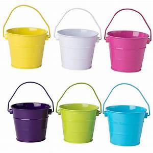 Colored, Mini, Metal, Buckets
