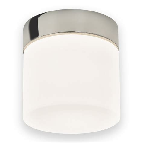 Chrome With White Glass 60W E27 IP44 Double Insulated