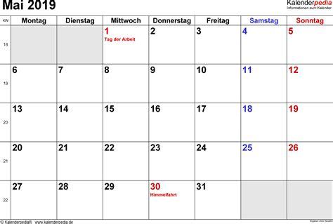 kalender mai als vorlagen