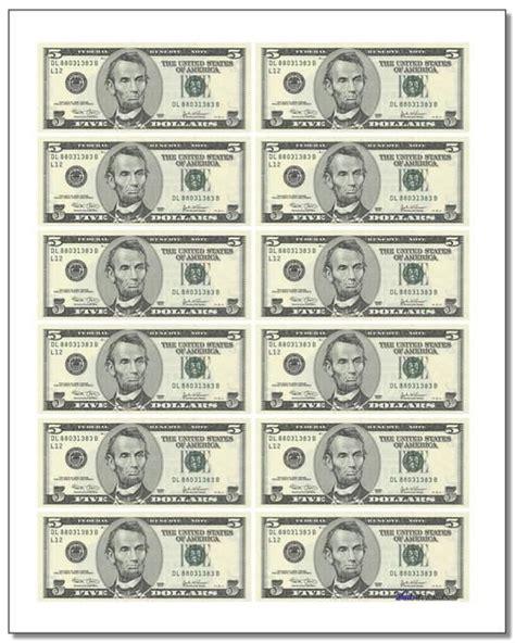 printable play money sheets   cutup