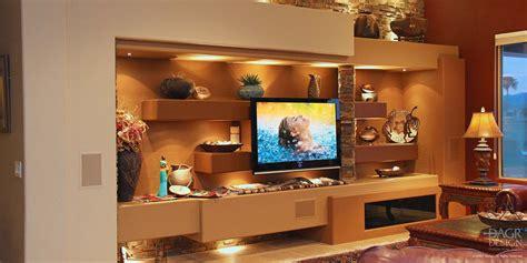 decorative wall shelf ideas custom home entertainment centers media walls