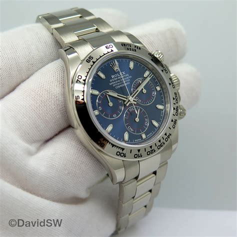 Rolex 116509 Cosmograph Daytona 18K White Gold with Blue ...