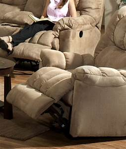 Cuddler Saddle Suede Cloth Chaise Rocker Recliner By