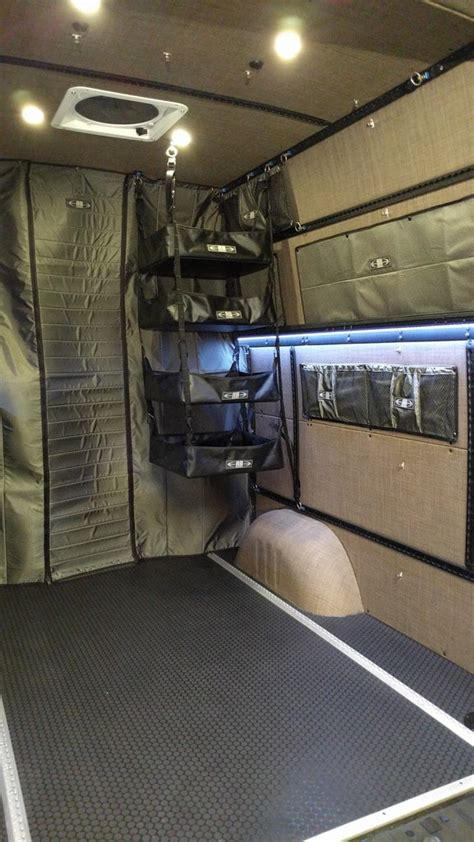 sprinter van fabric  adjustable hanging shelf