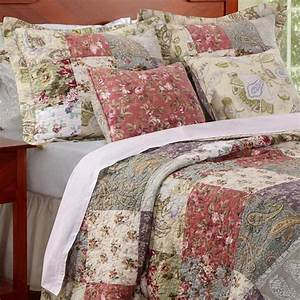 Country, Cottage, Patchwork, Cotton, Quilt, 5pc, Set, In, 2019