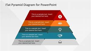 5 Levels Flat Pyramid Diagram Template For Powerpoint