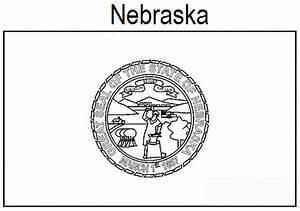 Geography Blog Nebraska State Flag Coloring Page