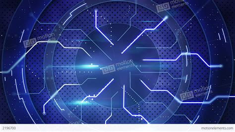 Hi Wallpapers Animated - blue hi tech abstract loopable background stock animation