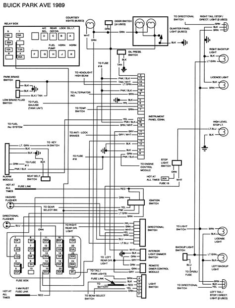 2001 Buick Park Avenue Wiring Diagram wiring harness for 1997 buick century wiring data