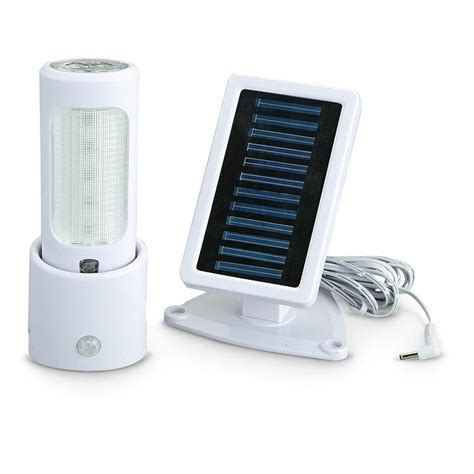 solar powered portable light stick with motion sensor