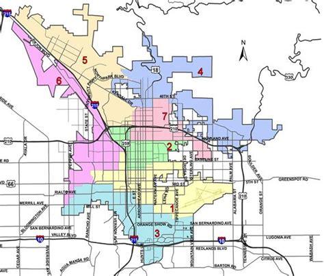 city  san bernardino ward map
