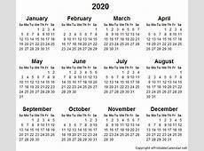 Calendar 2020 2018 calendar printable free