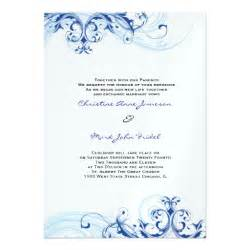royal blue wedding invitations royal blue scroll fleurish wedding invitation 5 quot x 7 quot invitation card zazzle