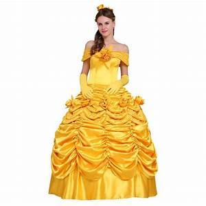Deguisement Princesse Disney Adulte : d guisement la belle et la b te princesse belle robe jaune ~ Mglfilm.com Idées de Décoration