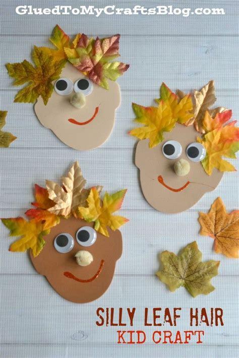 silly leaf hair kid craft fall crafts and activities 288 | 797db0ca9cbdaea310b42b9bb0966cba