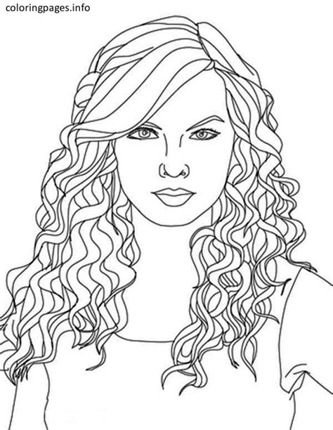 easy taylor swift coloring pages easy taylor swift