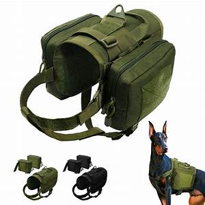 Military Dog Working Harness With Pockets K9 Molle