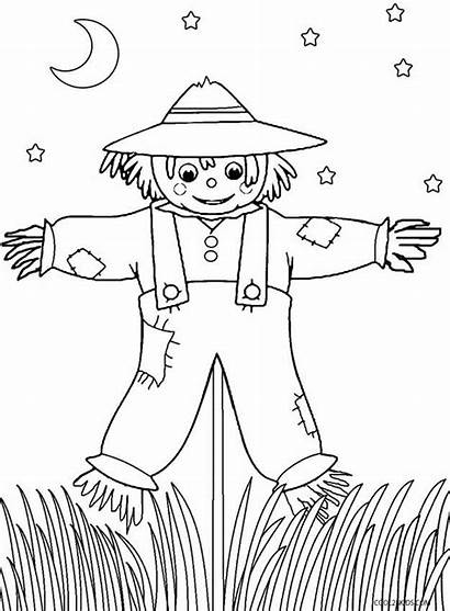 Scarecrow Coloring Pages Printable Batman Sheets Scary