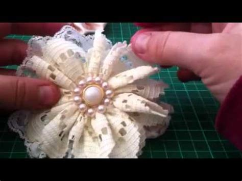 how to make shabby chic flowers out of fabric shabby chic vintage lace fabric flowers youtube