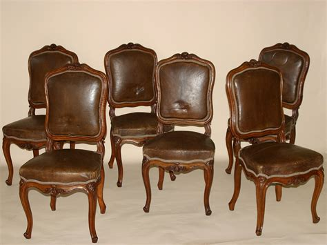 chaise style louis xv set of six louis xv style chaises