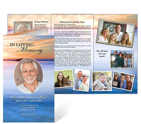 Memorial Brochure Templates Free by 218 Best Images About Creative Memorials With Funeral