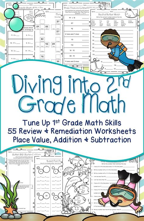 day of school math worksheets 2nd grade