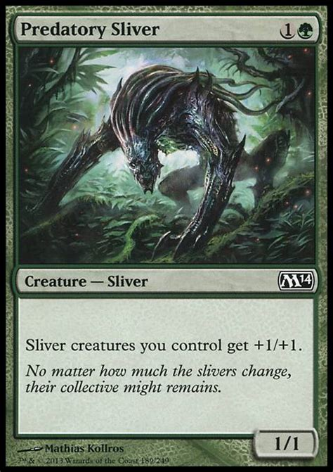 magic the gathering sliver deck ideas predatory sliver mtg card