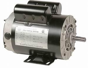 Cm53656 Worldwide Electric Air Compressor Motor 5 Hp 208