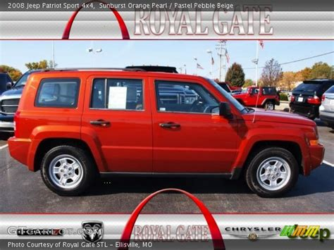 orange jeep patriot sunburst orange pearl 2008 jeep patriot sport 4x4