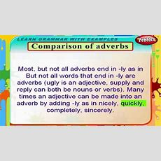 Comparison Of Adverbs  English Grammar Lessons For Beginners  English Grammar For Kids Youtube
