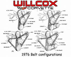 1976 Corvette Belt Diagram
