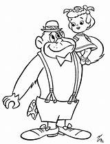Gorilla Coloring Colouring Pages Magilla Morning Saturday Cartoons Books Printable Cartoon Baby Characters Sheet Dolphin Races Wacky Dog Silverback Comments sketch template