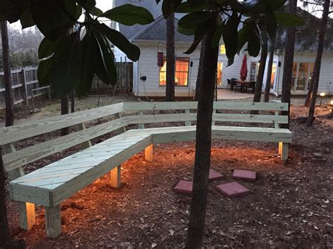 ana white fire pit bench diy projects