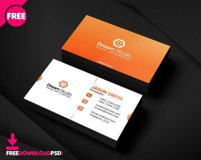 modern corporate business card freedownloadpsdcom