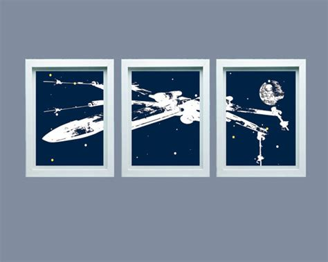star wars inspired wall art spaceship space decor space