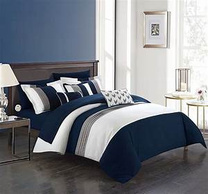 Chic, Home, Ayelet, 10, Piece, Comforter, Set, Color, Block