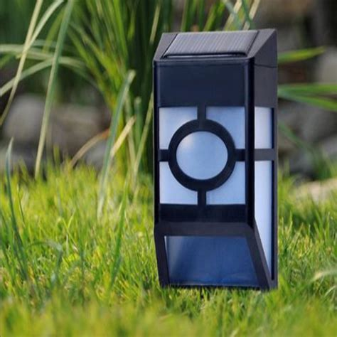 pcslot hollowed  led solar wall stair light