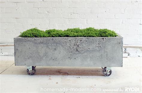 planter concrete homemade modern ep16 concrete planter