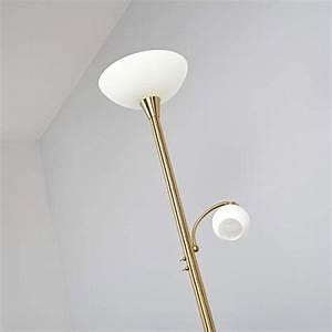 Led Stehlampe Messing : led stehlampe elaina in messing aus metall u a f r wohnzimmer esszimmer 2 flammig a von ~ Markanthonyermac.com Haus und Dekorationen
